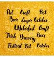 Oktoberfest Lettering over Gold Design vector image
