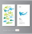 Watercolor arrows visit card vector image