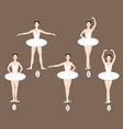 young dancer performs the five basic ballet vector image