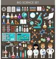 Big science set Infographics vector image