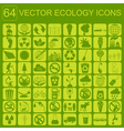 Environment ecology icon set Environmental risks vector image
