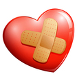 A heart with a plaster vector image vector image