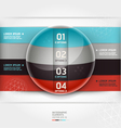 Abstract infographics element circle template vector image