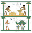 ancient egypt background water carriers at work vector image vector image