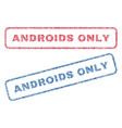 androids only textile stamps vector image vector image