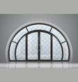 arched door with window vector image vector image