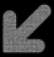 arrow down left halftone icon vector image vector image