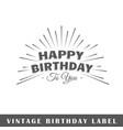 birthday label vector image vector image
