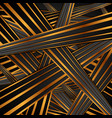 black bronze stripes abstract background vector image vector image