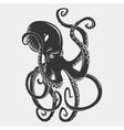 black danger cartoon octopus characters vector image vector image