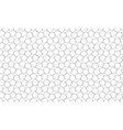 black line pentagon pattern seamless on white vector image