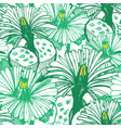 botanical green background vector image