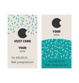 business card with ornament and simple logo vector image vector image