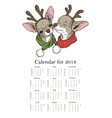 calendar two cute dogs in christmas costumes vector image vector image