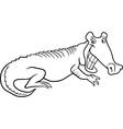 cartoon crocodile for coloring book vector image vector image