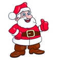 Cheerful smiling Santa Claus 2 vector image vector image