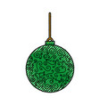 christmas ball hanging decoration ornament vector image