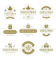 christmas sale labels and badges with text vector image vector image