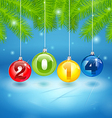 Christmas Tree Background with 2014 vector image