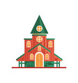 church cuilding facade on a vector image vector image