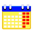 colorfull cartoon calendar icon vector image