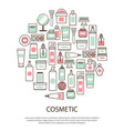 cosmetic collection with text vector image vector image