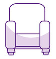 couch home isolated icon vector image vector image