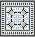decorative tiles vector image vector image