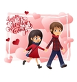 detailed flat valentines day card with vector image vector image