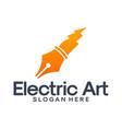 electric art logo designs vector image vector image