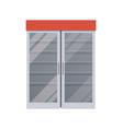 empty fridge at supermarket vector image vector image