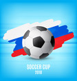 flag of russia and ball vector image vector image