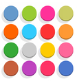 Flat blank web button round icon set with shadow vector image vector image