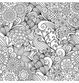 floral black and white decorative pattern vector image vector image