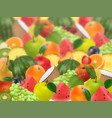 fruity fuzzy ripe juicy background vector image