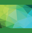geometric green blue low poly background vector image vector image