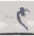 girl jumping in the sky vector image