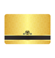 Gold Card with Vintage Pattern vector image vector image