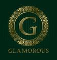 golden logo template for glamorous boutique vector image vector image