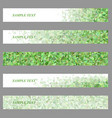 Green triangle mosaic web banner design set vector image
