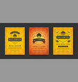 halloween party flyers invitations or posters set vector image vector image