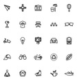 Hipster line icons on white background vector image