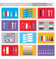 infographic elements arrowssignsbars vector image vector image