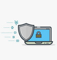 laptop shield protection vector image vector image