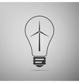 Light bulb with a wind turbines as idea of eco vector image vector image