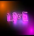 love neon sign vector image