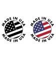 made in usa sign red stripes white stripes and vector image