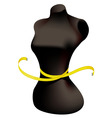 Mannequin and measuring tape vector | Price: 1 Credit (USD $1)
