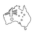 map with flag of australia vector image vector image