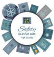 money safe steel vault door round pattern safety vector image